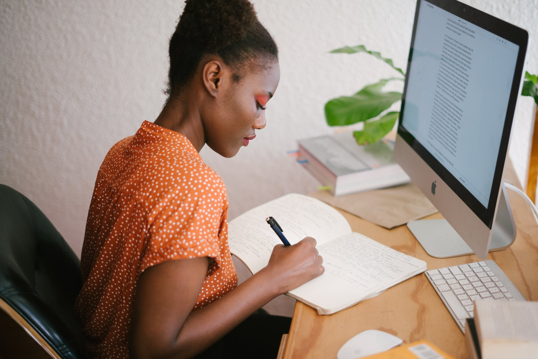woman in front of her computer